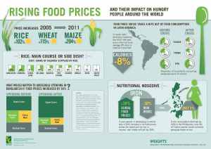 The price of food is a global commodity. When rice or grain or wheat rises, it rises for everybody.